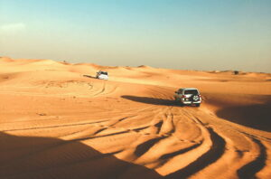 Remote vehicle tracking system in the desert