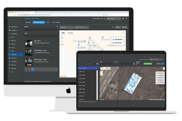 Real-time location systems software