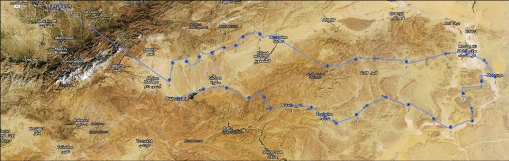 Invictus Endeavor Desert Challenge Route